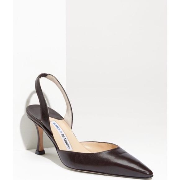 a58511df18 Manolo Blahnik Shoes   Carolyne 7 Slingback Pumps   Poshmark